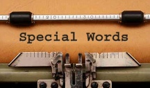 photo of: use special words from search analytics