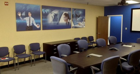 Vital branding a conference room